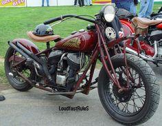 1936 frame with 1946 engine, built by Ventura Motorworks, SoCal.