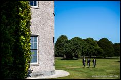 Guests arriving at Goodwood House for the wedding celebrations