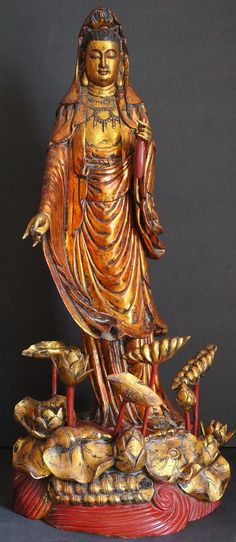 19th Century Chinese Kuan Yin Goddess of Mercy also known as Guan Yin