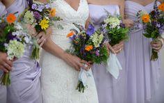 wildflower bouquets, lavender