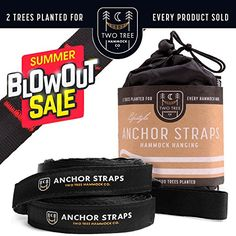 Two Tree Hammock Co SUMMER BLOWOUT SALEThe Original Hammock Tree Straps are the Easiest and Fastest Way to hang your hammock Black ** ** AMAZON BEST BUY ** #HammockStraps Hammock Tree Straps, Two Trees, Tree Care, Trees To Plant, Cool Things To Buy, Mother Nature, Lawn, Safety, The Originals
