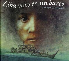 """Ziba, en brazos de su madre, recuerda escenas de su aldea, de su vida, mientras el destartalado barco, en el que viajan hacinados, surca un mar tenebroso y amenazante. Huyen de la guerra y buscan una vida en paz, imaginándose un país de acogida donde realizar sus sueños.      """"Ziba vino en un barco. Un viejo y abarrotado barco pesquero que crujía y gemía mientras se elevaba y caía, se elevaba y caía surcando un mar sin fin..."""""""