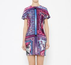 Versace Pink, Purple And Blue Dress