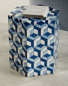 Shop Hexagon Garden Seat, Blue/White at Horchow, where you'll find new lower shipping on hundreds of home furnishings and gifts.
