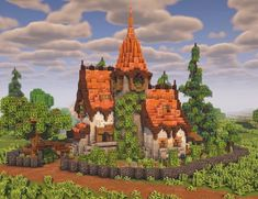 Minecraft House Plans, Minecraft Farm, Minecraft Cottage, Minecraft House Tutorials, Minecraft Medieval, Cute Minecraft Houses, Minecraft House Designs, Minecraft Survival, Minecraft Construction