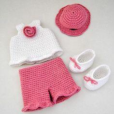 Crochet Elephant Pattern, Crochet Vest Pattern, Baby Cardigan Knitting Pattern, Baby Knitting, Crochet Patterns, Crochet Baby Costumes, Crochet Doll Clothes, Crochet Dolls, Crochet Toddler