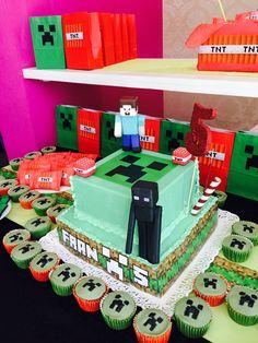 Torta Minecraft  para Fran