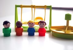 Vintage Fisher Price Little People playground Fisher Price Toys, Merry Go Round, Little People, Vintage Toys, Playground, Childhood, Geek Stuff, Shapes, Funny