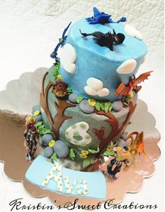 How to Train Your Dragon cake!