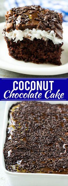 Chocolate Coconut Cake Recipe   Easy Chocolate Cake   Chocolate and Coconut Recipe