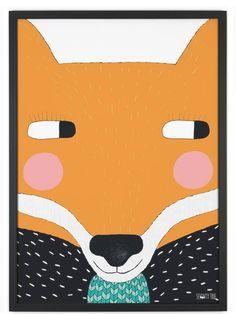 Seventy Tree Big Fox Poster (30x40cm)