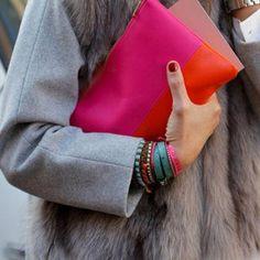 . colored accessories .