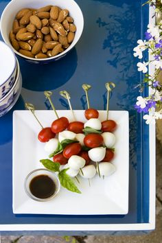 cobistyle bamboo skewers and tray