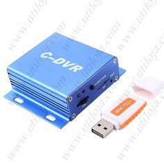 Mini DVR C-DVR com Detecção de Movimento de Vídeo Recorder Radio w Slot para cartão TF