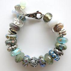 """Coastal Hues"" Trollbeads Bracelet design by Tartooful"
