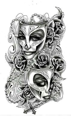 £3.49 GBP - 19Cm X 12Cm Sheet High Quality Supreme Fake Tattoo Ghost Mask Temporary Body Art #ebay #Fashion