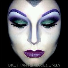 Malificent makeup. Like the contouring on the nose to make her face look sharp. Would be a good example when I do my evil fairy makeup