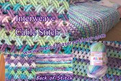 Interweave Cable Stitch - Free Crochet pattern and Tutorial by Meladora's Creations