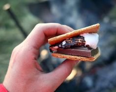 Try adding one or two of these ingredients to put a gourmet twist on this classic campfire treat:  peanut butter, Nutella, coconut, strawberries, pineapple, dried apples, candied ginger, banana slices