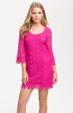 Laundry by Shelli Segal Lace Overlay Shift Dress