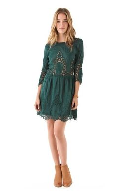 Image result for lace dress with ankle boots