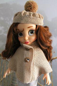 Robes de Princesses pour Animator's Collection: Ensemble manteau et bonnet Ecru