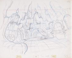 Original production layout drawing from The Secret of Nimh.