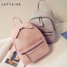 This super cute mini-backpack from Leftside is a must have for back-to-school! The interior is fully lined with a special pocket just for your cell phone and a small slit pocket to help keep things organized! The double zipper closure keeps your things secure and the extra pocket on front is perfect for cash or pens. This bag has double shoulder straps or a hand strap for flexibility in carrying. Casual enough from jeans, but cute enough to go a little dressier, this bag will become your…