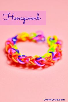 How to Make a Honeycomb Rainbow Loom Bracelet