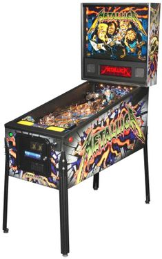 Metallica Pro /  Professional Model Pinball Machine | From Stern Pinball |   Get more information about this game at: http://www.bmigaming.com/games-pinball-new.htm