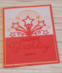 Bright and fun birthday card made with Birthday Blast Bundle from Stampin' Up! www.nicollebelesimo.stampinup.net