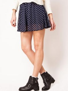 LOVE Skater Skirt In Polka Dots by koovs.com online