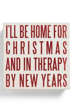 Primitives by Kathy 'Therapy by New Year's' Box Sign available at #Nordstrom