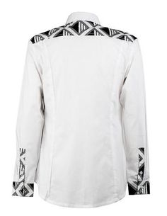 men's black and white shirt ohema ohene back view African Print Shirt, African Print Dresses, African Fashion Dresses, African Dress, African Wear Styles For Men, African Shirts For Men, African Clothing For Men, Black And White Shirt, White Shirts
