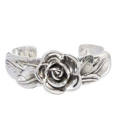 Love this Sterling Silver Rose Cuff on #zulily! #zulilyfinds