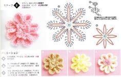 flores a crochet con patrón