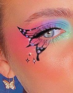 Indie Makeup, Edgy Makeup, Makeup Eye Looks, Eye Makeup Art, Crazy Makeup, Cute Makeup, Eyeshadow Makeup, Eyeshadow Looks, Maquillage On Fleek