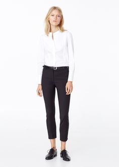 Panel cotton shirt -  Women | MANGO