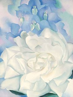 White Rose with Larkspur No. 2 by Georgia O'Keefe