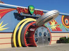 One of Liam's favorite places. Space Aliens in North Dakota