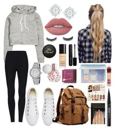 """""""School 26"""" by ella-goodness on Polyvore featuring H&M, Converse, Michael Kors, Mémoire, Lime Crime, Gucci, Marc Jacobs, Hoola, Anastasia Beverly Hills and Kat Von D"""