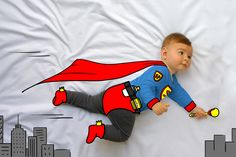ponchito, superheroe, heroer, superman, super man, de mayor quiero ser, fotografía, infantil, bebé, creativa, ilustración, baby, photography, kid, illustration, photography, creative, dibujo, www.demayorquieroser.es Ideas para fotos bebé niño