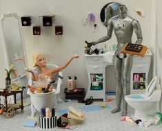 barbie and android doll