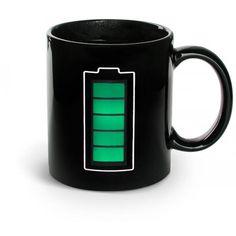 Mug Batterie Thermoréactif Noir #coffee #tea