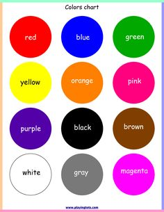 color preschool printables preschool colors preschool printables classroom charts preschool. Black Bedroom Furniture Sets. Home Design Ideas