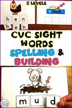 Looking for a hands on spelling activity that all of your students can use no matter what level they are at? With these cards, students can work on spelling, letter sounds, letter matching and labeling pictures. These are perfect for  my reading & spelling centers, work task boxes. My special education students LOVE them!!