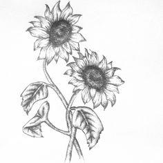 Double sunflower tattoo
