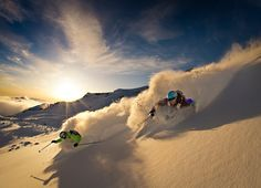 Powder and dust - La Parva , Chile