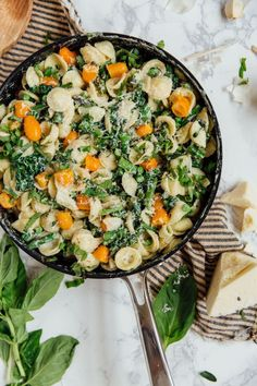One-Pot Pasta Primavera with Summer Veggies & Ricotta - Camille Styles