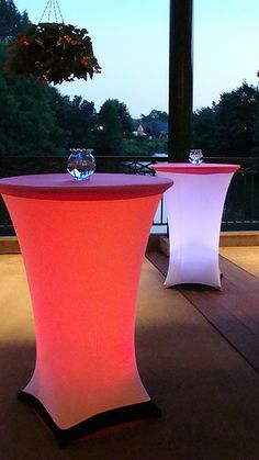 Lighted cocktail tables. Coolest new things ever for events.